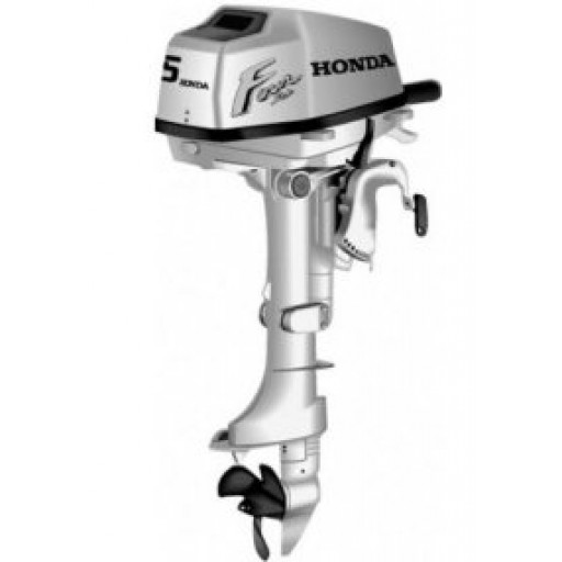 Honda 5hp 4 stroke short shaft outboard with 3 amp for Honda 2 5 hp outboard motor