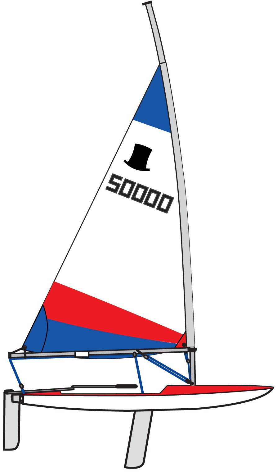 Topper Sail 4 2 Rolled Red Amp Blue Sails Topper