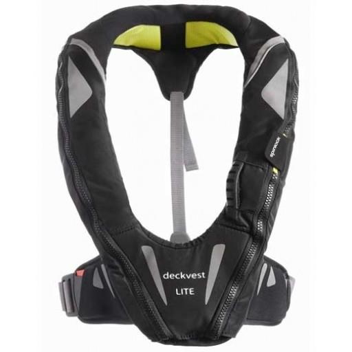 Spinlock Deckvest Lite 170N Lifejacket (Gun Metal/Black)