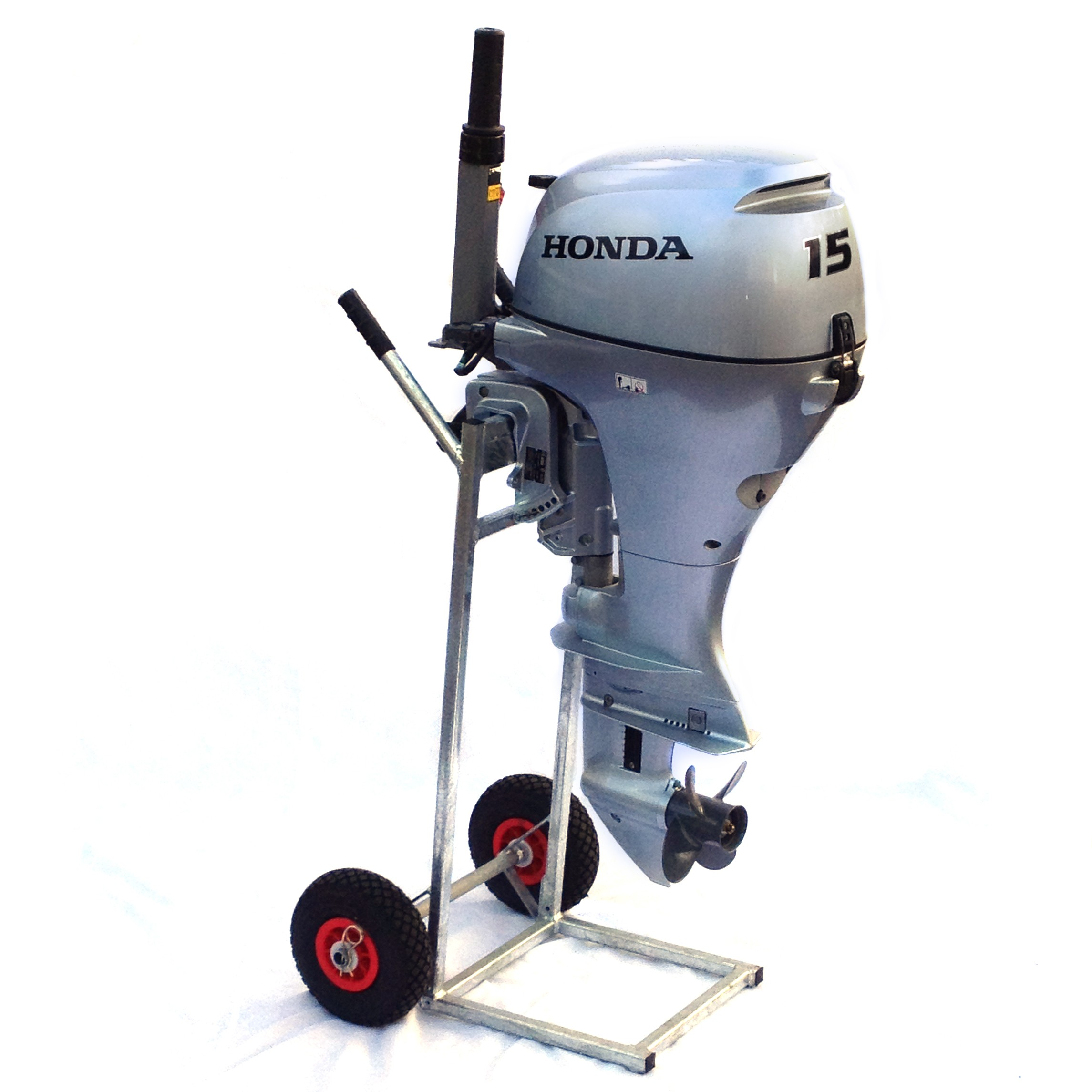 Outboard engine trolley and stand engines inflatables for Small boat motor repair