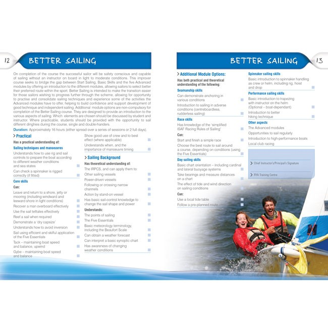 G4 Rya National Sailing Scheme Syllabus And Logbook