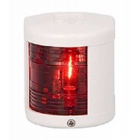 Port Navigation Light - 12V - Side Mounting - White Housing - Aqua Signal Series 25 Standard