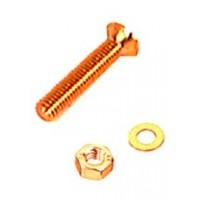 M6 x 50mm Countersunk Brass Machine Screw 2 Pack
