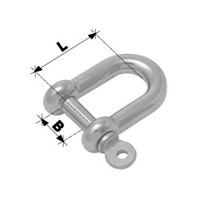 8mm D Shackle Forged - Stainless Steel