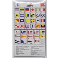RWO International Code Flag Sticker Key