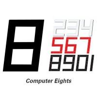 230mm Computer 8 Sail Number - Black