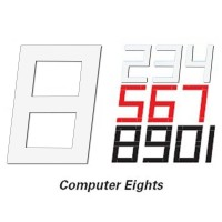 230mm Computer 8 Sail Number - White