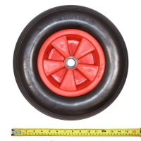 "Flat Free Solid Trolley Wheel 16"" x 4"""
