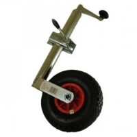 Pneumatic Jockey Wheel With 48mm Telescopic Shaft And Clamp