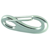 Stainless Steel Snap Hook with Keeper 70mm
