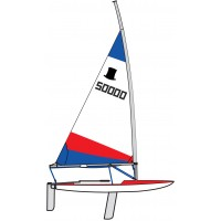 Topper Sail 4.2 Rolled Red & Blue
