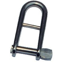 6mm Halyard Key Shackle - Stainless Steel