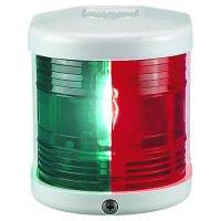 Bicolour Navigation Light - 12V - Side Mounting - White Housing - Aqua Signal Series 25 Standard