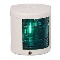 Starboard Navigation Light - 12V - Side Mounting - White Housing - Aqua Signal Series 25 Standard