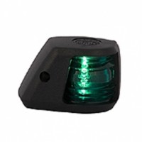 Starboard Navigation Light - 12V - Side Mounting - Black Housing - Aqua Signal Series 20