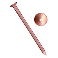 5.5 x 50mm Copper Countersunk Nails And Roves 8 Pack