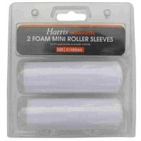 Harris Foam Mini Roller Sleeves - 100mm (2 Pack)