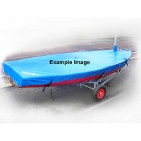 RS400 Boat Cover Flat (Mast Up) Breathable Without Mainsheet Hoop Cover