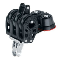 Harken 29mm Triple Carbo Block With Cam Cleat & Becket