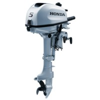 Honda 5HP 4-Stroke Long Shaft Outboard with 6 Amp Charging Coil