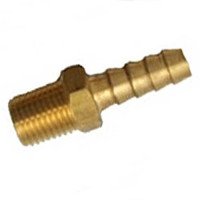 "1/4"" Threaded to 3/8"" Hose Barb Adaptor for Mallory Fuel Filters - Each"