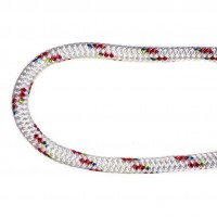 Braid On Braid 12mm White With Red Fleck