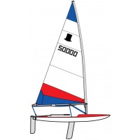 Topper Sail 5.3 Rolled Red & Blue