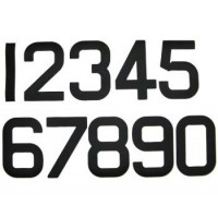 12 inch Sail Numbers - Black