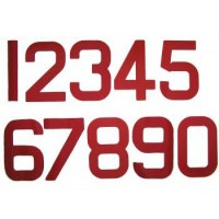 12 inch Sail Numbers - Red