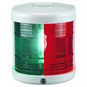 Bicolour Navigation Light - 12V - Side Mounting - White Housing - Aqua Signal Series 25 Standard