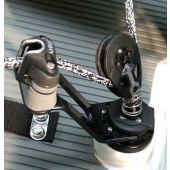 Allen Aluminium Arm Mainsheet Swivel Jammer complete with Ratchet Block