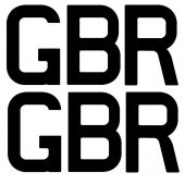 GBR Sail Letter Set 9 Inch (234mm)