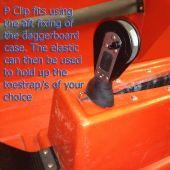 Topper Toestrap Elastic and P-clip
