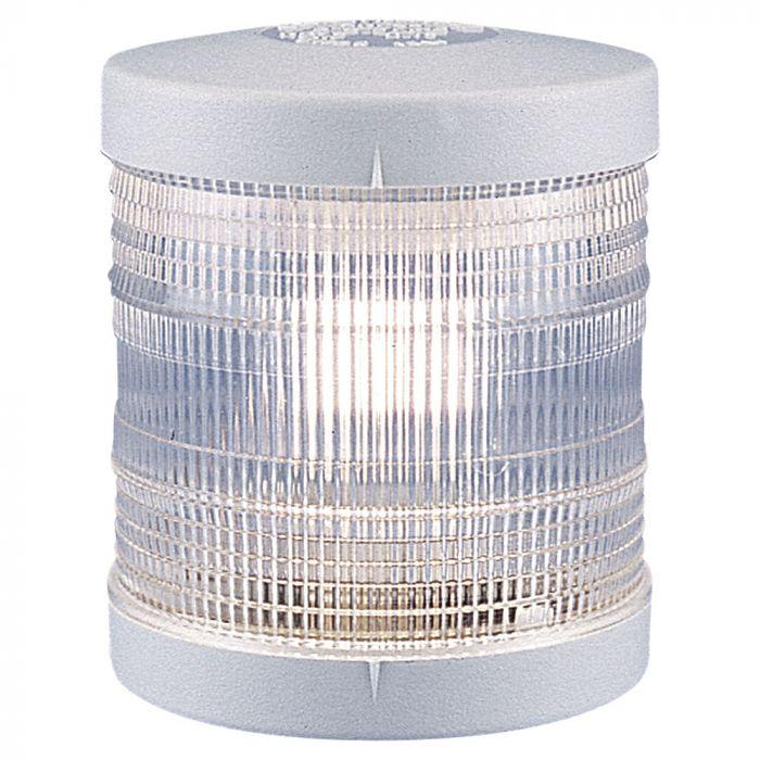 360º White Navigation Light - 12V - Deck Mounting - White Housing - Aqua Signal Series 25 Standard