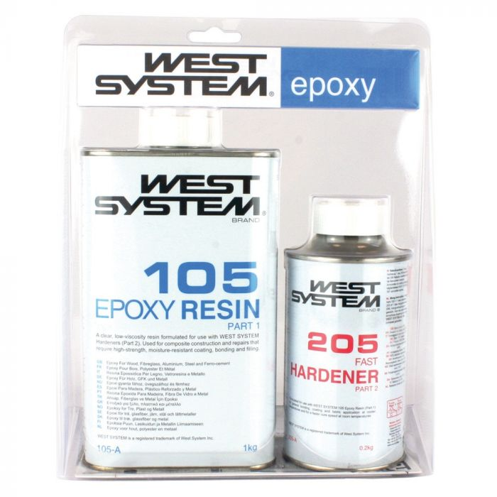 West Systems 105 Epoxy Resin and 205 Hardener A Pack 1.2kg