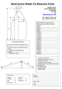 Made To Measure Cover Form
